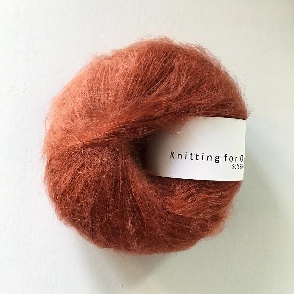 Knitting for Olive Soft Silk Mohair Rust