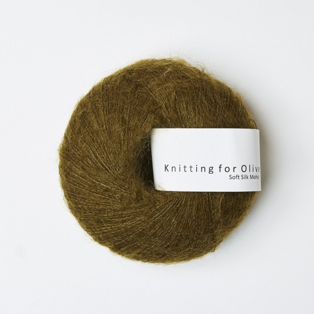 Knitting for Olive Soft Silk Mohair Kobbergrønn
