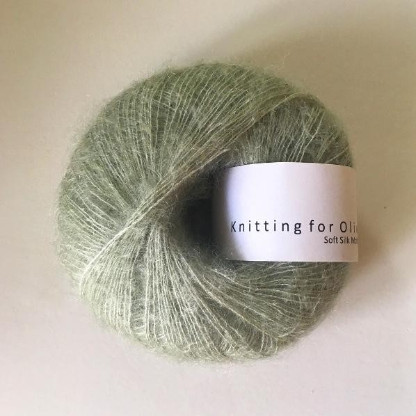 Knitting for Olive Soft Silk Mohair Støvet Artiskok