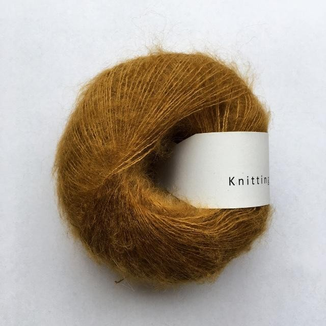 Knitting for Olive Soft Silk Mohair Mørk Sennep