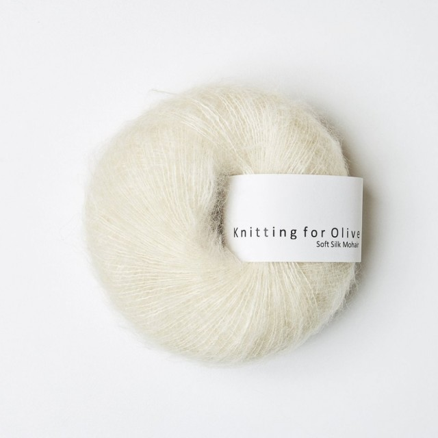 Knitting for Olive Soft Silk Mohair Råhvid
