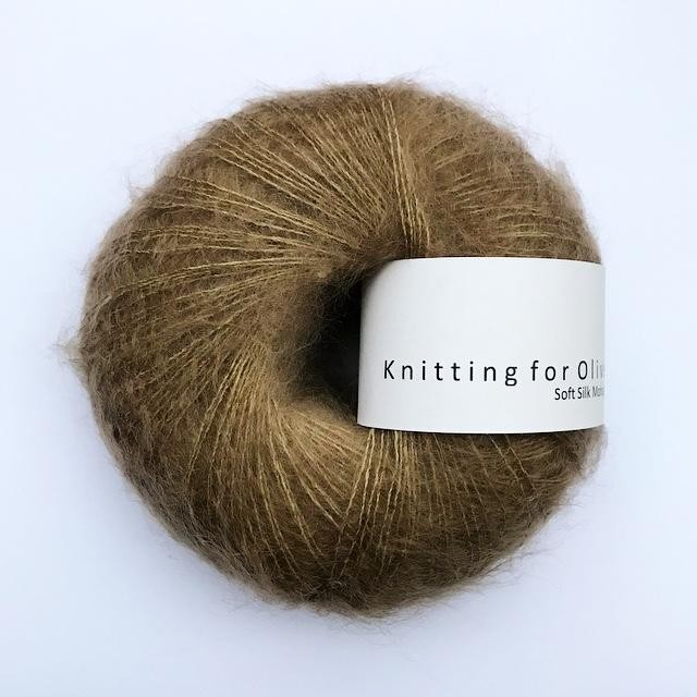 Knitting for Olive Soft Silk Mohair Nøttebrun